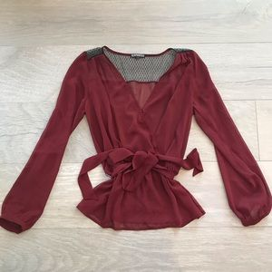 Express Burgundy Long Sleeve